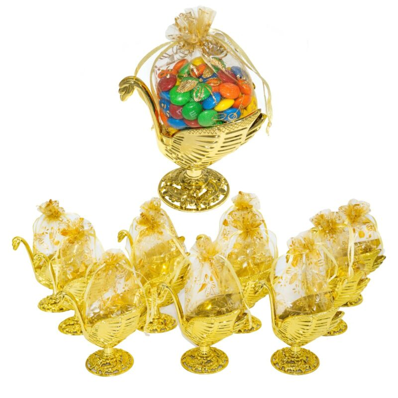 12pc Fillable GoldSwan with Pouch Party Favors Baby Shower Birthday Return Gift