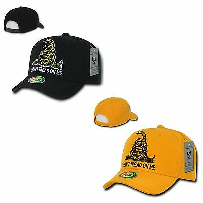 1 Dozen Gadsden Flag Don't Tread On Me Snake Tea Party Baseball Caps Wholesale
