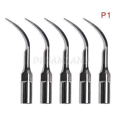5x Dental Ultrasonic Perio Scaler Insert Tips P1 Fit Ems Handpiece Usa Dentist