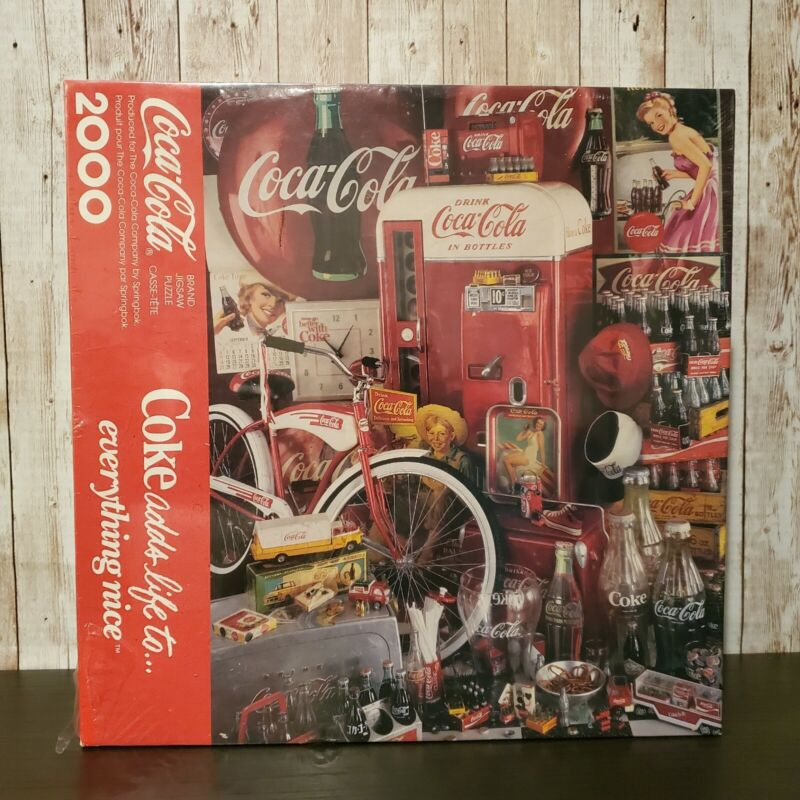 """COCA COLA 2000 PIECE PUZZLE SPRINGBOK """"COKE ADDS LIFE TO EVERYTHING NICE"""" SEALED"""