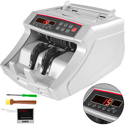 Money Counting Machine Bill Cash Counter Bank Counterfeit Checker Uv Mg Mt Ir Dd