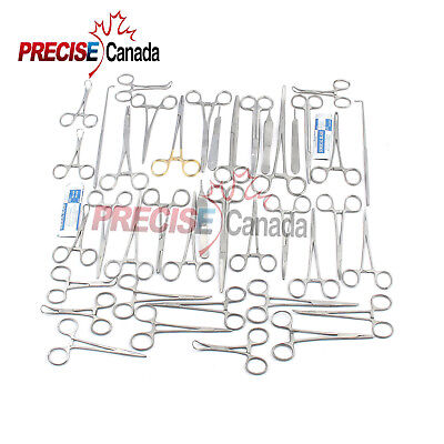 90 Pcs Canine Feline Spay Pack Veterinary Surgical Instruments Ds-1083