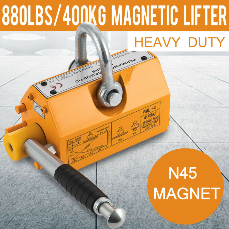 400 KG Steel Magnetic Lifter Heavy Duty Crane Hoist Lifting Magnet 880 LB