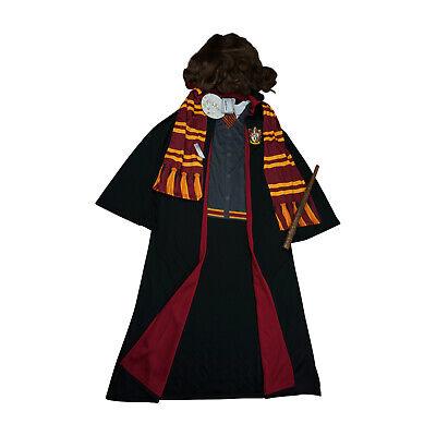 Harry Potter Hermine Granger Gryffindor Kostüm Umhang Perücke Zauberstab 5-6 J.