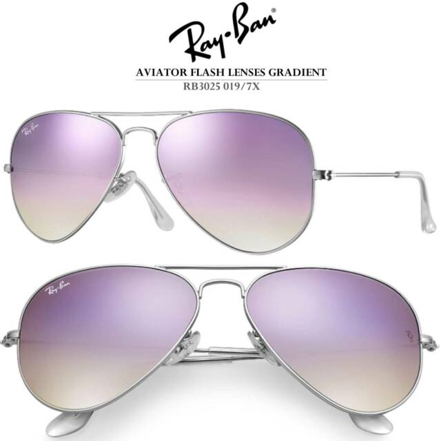 8957af3ef0a Authentic Ray-Ban Lilac Gradient Flash Sunglasses RB3025 019  47 7X ...