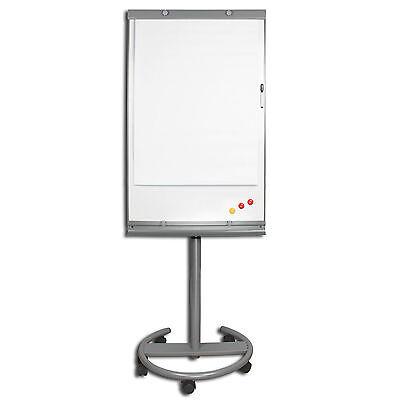 LUXUS Flipchart auf Rollen Whiteboard magnetisch höhenver + Marker Magnete Block