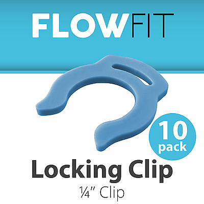Blue Locking Clip Quick Connect Fittings 1/4