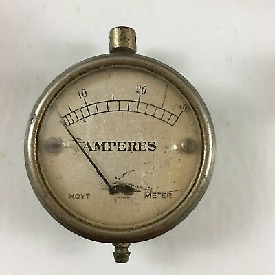 Vintage Amperes Hoyt Meter 0-30