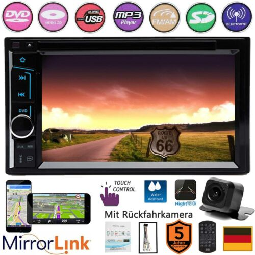 DOPPEL DIN AUTORADIO DVD USB MIRRORLINK+KAMERA für AUDI A2 A3 A4 B5 A6 A8 TT