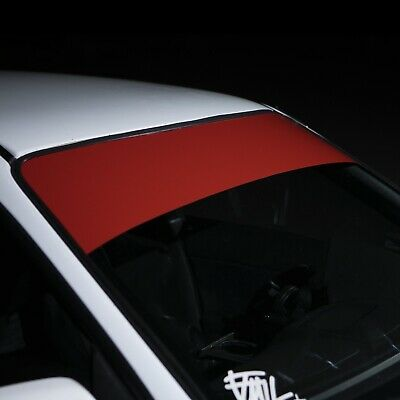 Universal Windshield Banner Gloss Red Sport Cars