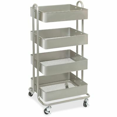 Lorell 4-Basket Storage Cart Wheeled 18