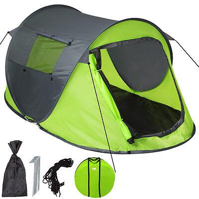 Tenda popup campeggio 2 posti automatica instant viaggio trekking moto verde nuo
