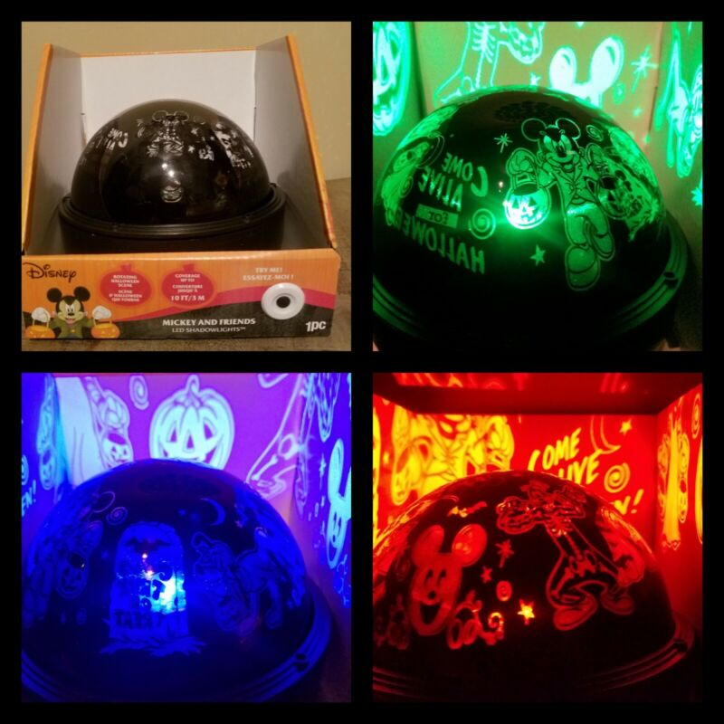 Disney Mickey Mouse Halloween  Projection LED Color Changing Shadow Light