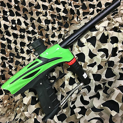 New Gog Enmey Semi Auto  68 Cal Mechanical Paintball Gun   Freak Green Black