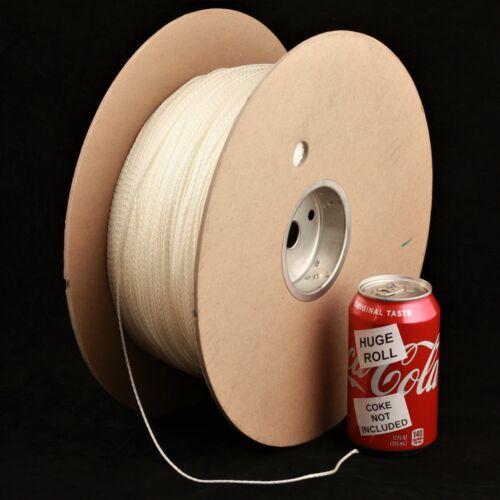 BULK LOT White Iridescent #33 Needloft Nylon Craft Cord - 3,500 feet! USA