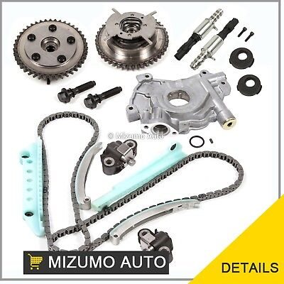 Timing Chain Kit Cam Phaser Selenoid Oil Pump Fit 05-10 Ford 4.6 24V TRITON