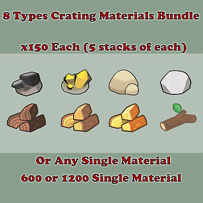 Animal Crossing New Horizons 8 Types Crafting Materials or Any Single Material