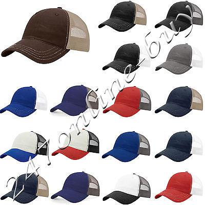 Richardson Mens Garment Washed Trucker Cap unstructured low-profile Hat 111 ()
