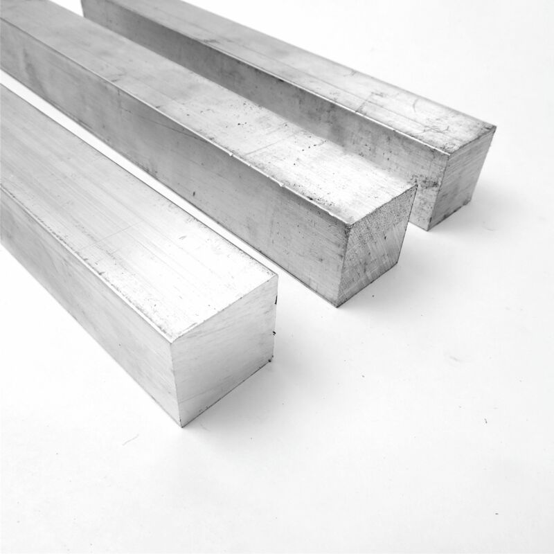 "1.5""  Aluminum  6061 SQUARE Solid  FLAT BAR 12.375"" Long  Pieces 3 sku M610"