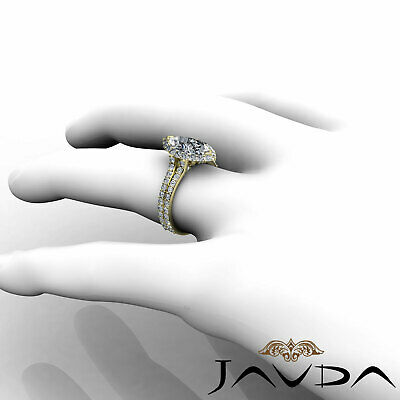 Halo Pave Set Marquise Cut Diamond Engagement Anniversary Ring GIA I SI1 2.36Ct 10