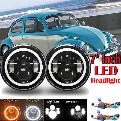 Buy and sell 7 inch LED H4 Hi/Low Headlights for JK VW Beetle products