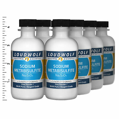 Sodium Metabisulfite 2 Lb Total 8 Bottles Reagent Grade Fine Powder