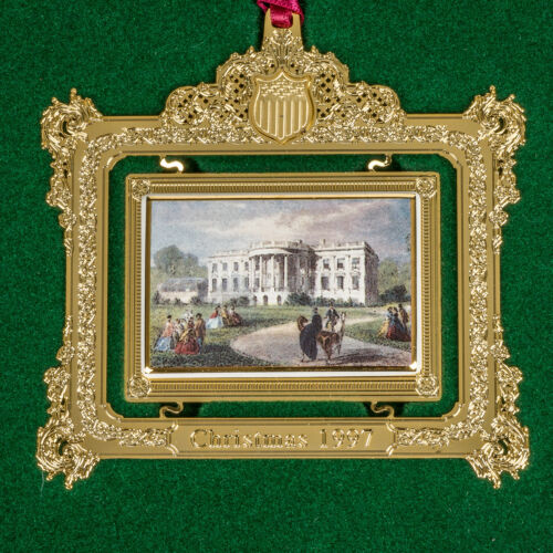 1997 White House Christmas Ornament Historical Association  with Box & Brochure