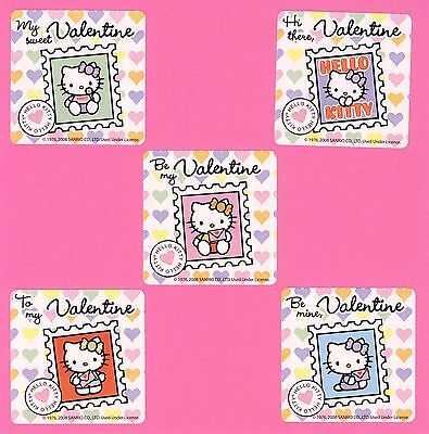 Hello Kitty Valentine (10 Hello Kitty Valentine's Day - Large Stickers - Party)