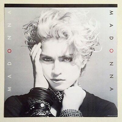 RARE VNTG 1983 ICONIC MADONNA FIRST ALBUM SIRE RECORDS PROMO COLLECTOR'S POSTER