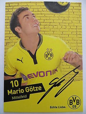 Handsignierte AK Autogrammkarte *MARIO GÖTZE* Borussia Dortmund 12/13 2012/2013