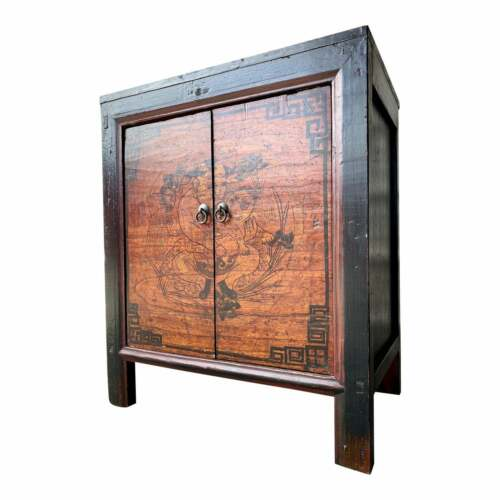 Late 19th Century Antique Mongolian Chinese 2 Door Cabinet