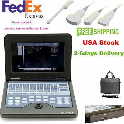 B-ultrasound Scanner Portable Machine 4 Probe Convex Linear Cardiac Transvaginal