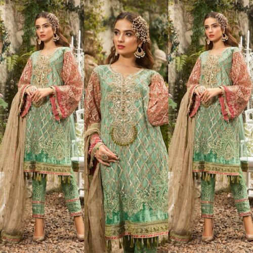 Maria B Pakistani Salwar Kameez Indian Wedding Dress Designer Suit Chiffon Party