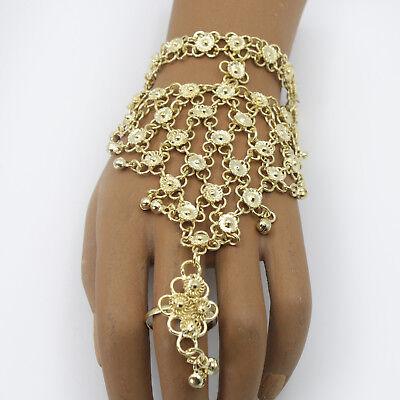 en Messing Sklavenarmband Bollywood Bauchtanz Gold 1 Stück (Bollywood Armband)