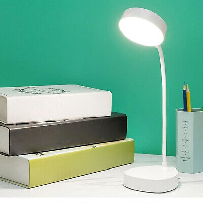 LED Desk Reading Lamp Table Night Light Dimmable Nightlight USB Rechargeable