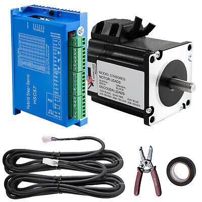 185oz-in 1.2nm Nema23 Closed Loop Stepper Motor Hybrid Servo Driver Control