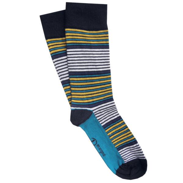 CREW CLOTHING Mens Striped Everyday Tipped Blue White Socks UK 7-11 /> BNWOT