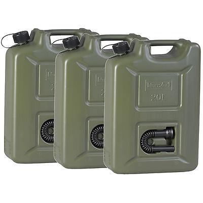 3x Benzinkanister 20 Liter Kraftstoff Kanister olivgrün 20L UN-Zulassung Diesel