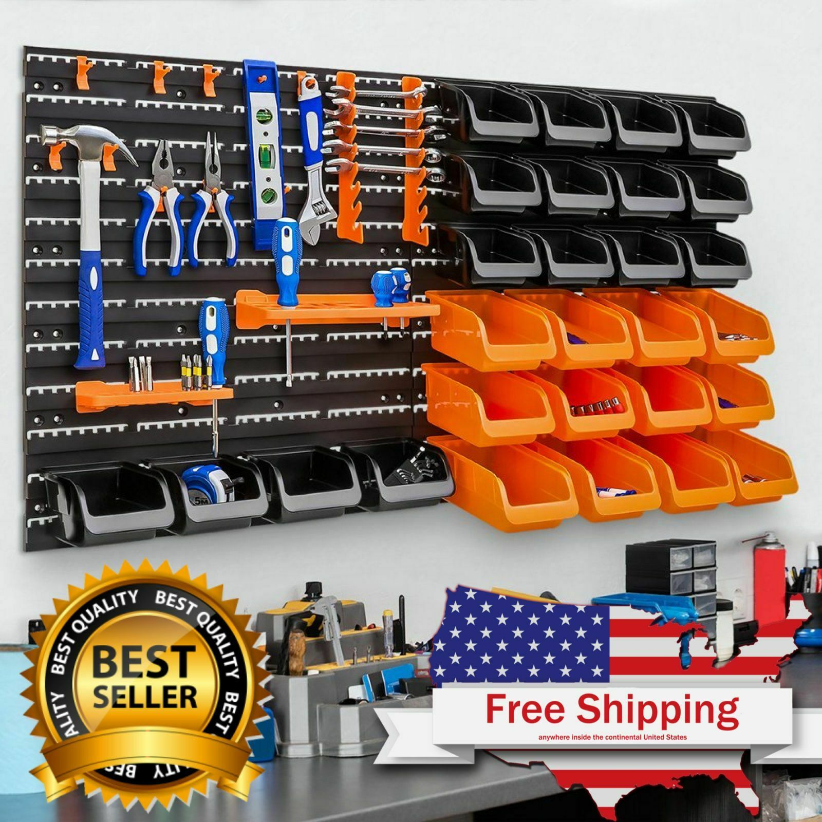 Garage Storage Organizer Rack 44-Piece Wall Mounted, Best Ch