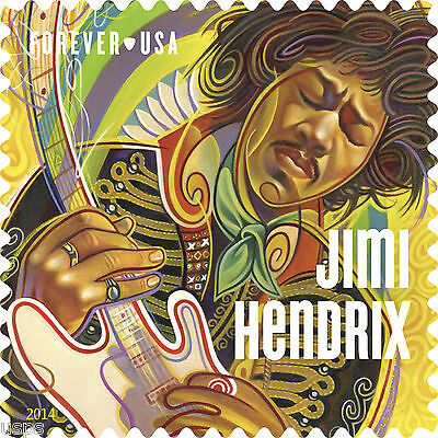 Купить USPS New Jimi Hendrix Forever Stamp Sheet of 16