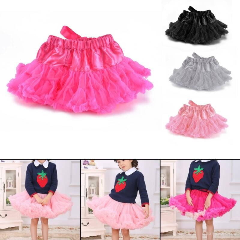 Toddler Baby Girls Tutu Ballet Skirts Fluffy Fancy Party Princess Pettiskirt HOT
