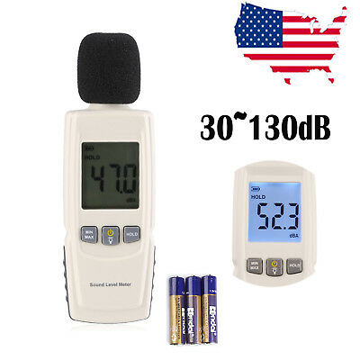 Digital Lcd Sound Pressure Level Decibel Noise Meter Tester Measurement 30130db