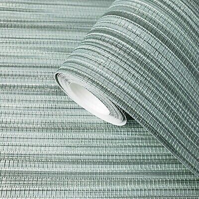 Wallpaper Green Cream wall coverings Textured faux grasscloth bamboo textures 3D