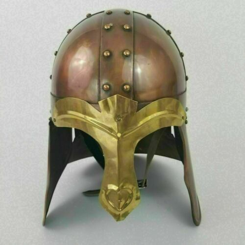 Medieval Helmet Brass larp Reenactment Battle Warrior Steel Helmet Gift