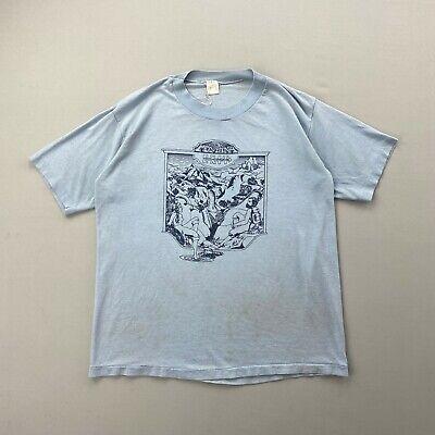 80s Tops, Shirts, T-shirts, Blouse   90s T-shirts Vintage 80s Montana Hiking Nature Outdoor Blue T Shirt Mens Large Single Stitch $24.99 AT vintagedancer.com