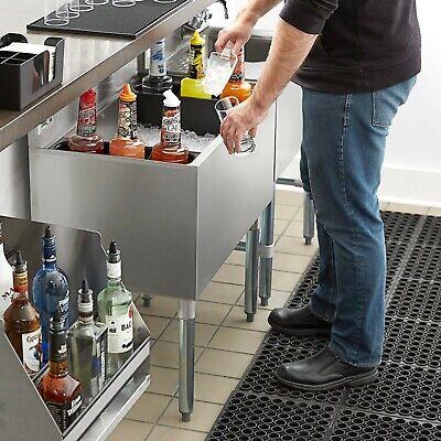 18 X 30 Underbar Stainless Steel Restaurant Bar Ice Bin - 98 Lb. Ice Capacity