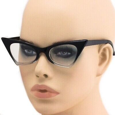 Cat Eye Ombre Gradient Frames Fashion Designer Clear Lens Glasses Eyeglasses (Clear Cat Eye Glasses Frames)