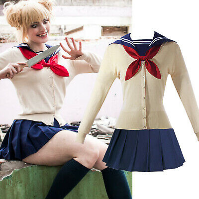 My Hero Academia Himiko Toga Outfit JK Sailor Uniform Cosplay Costume Halloween
