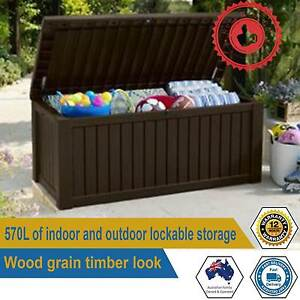 Keter Rockwood Indoor Outdoor Storage Box Lockable With Two Seat Paddington Eastern Suburbs Preview