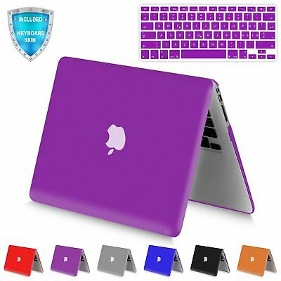 Rubberized Hard Matte Shell Case with Keyboard Skin for Appl